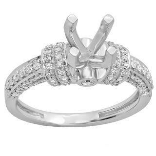 Elora 14-karatWhite/Yellow Gold Women's Bridal Semi Mount Engagement Ring With No Center Stone