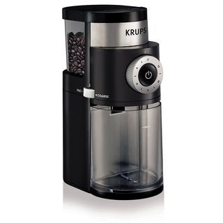 Krups GX5000 Black Stainless Steel/Plastic 7-ounce Professional Electric Coffee Burr Grinder With Grind Size and Cup Selection