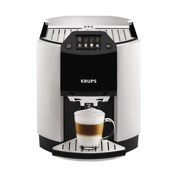Krups EA9010 Barista Silver Fully Automatic One Touch Cappuccino Machine