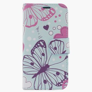Insten Colorful Butterfly Leather Case Cover with Stand/ Wallet Flap Pouch/ Photo Display For Apple iPhone 6 Plus/ 6s Plus