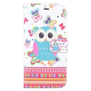 Insten Colorful Owl Leather Case Cover with Stand/ Wallet Flap Pouch/ Photo Display For Apple iPhone 6 Plus/ 6s Plus