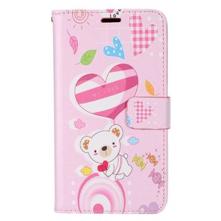 Insten Bear Leather Case Cover with Stand/ Wallet Flap Pouch/ Photo Display For LG Destiny/ Leon/ Power/ Risio/ Tribute 2