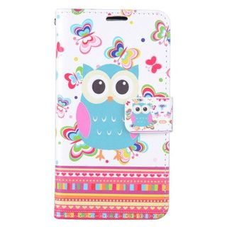 Insten Colorful Butterfly Leather Case Cover with Stand/ Wallet Flap Pouch/ Photo Display For LG K7