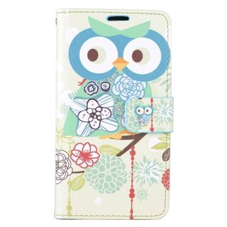 Insten Colorful Owl Leather Case Cover with Stand/ Wallet Flap Pouch/ Photo Display For LG K7