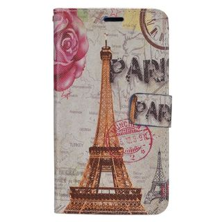 Insten Colorful Flowers Leather Case Cover with Stand/ Wallet Flap Pouch/ Photo Display For LG G Stylo