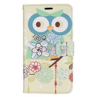 Insten Colorful Owl Leather Case Cover with Stand/ Wallet Flap Pouch/ Photo Display For LG G Stylo