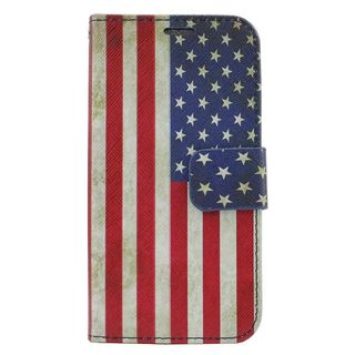 Insten United States National Flag Leather Case Cover with Stand/ Wallet Flap Pouch/ Photo Display For Samsung Galaxy Core Prime