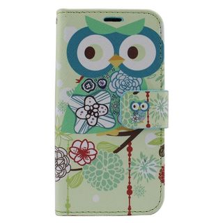 Insten Colorful Owl Leather Case Cover with Stand/ Wallet Flap Pouch/ Photo Display For Samsung Galaxy Core Prime