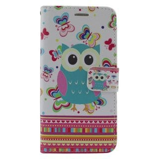 Insten Colorful Owl Leather Case Cover with Stand/ Wallet Flap Pouch/ Photo Display For Samsung Galaxy Grand Prime