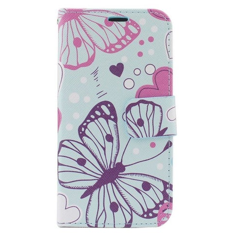 Insten Colorful Butterfly Leather Case Cover with Stand/ Wallet Flap Pouch/ Photo Display For Apple iPhone 6/ 6s