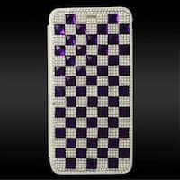 Insten 3D Leather Diamond Bling Case Cover with Wallet Flap Pouch For Apple iPhone 6 Plus/ 6s Plus
