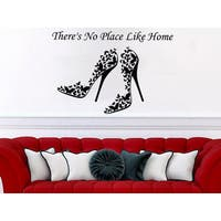 Quote There's No Place Like Home Wall Art Sticker Decal