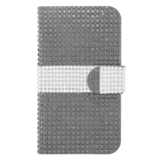Insten Leather Rhinestone Bling Case Cover with Wallet Flap Pouch For Kyocera Hydro Icon 6730/ Hydro Life 6530