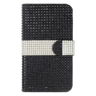 Insten Leather Diamond Bling Case Cover with Wallet Flap Pouch For Kyocera Hydro Wave