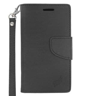 Insten Leather Case Cover Lanyard with Stand/ Wallet Flap Pouch/ Photo Display For LG Destiny/ Leon/ Power/ Risio/ Tribute 2