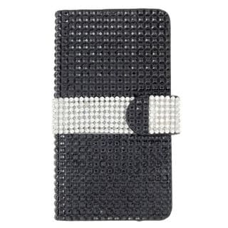 Insten Leather Diamond Bling Case Cover with Wallet Flap Pouch For LG Destiny/ Leon/ Power/ Risio/ Tribute 2