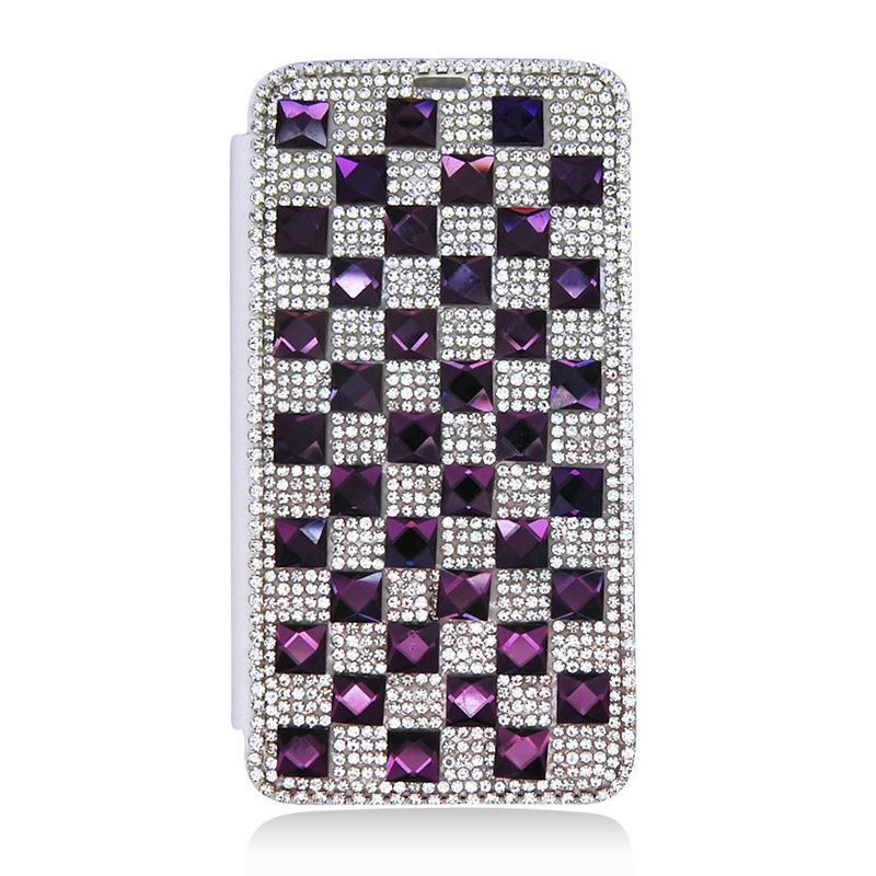Insten 3D Leather Rhinestone Bling Case Cover with Wallet...