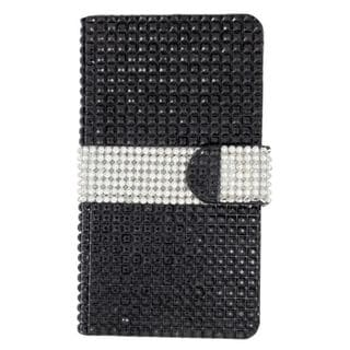 Insten Leather Rhinestone Bling Case Cover with Wallet Flap Pouch For LG Escape 2