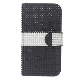 Insten Leather Diamond Bling Case Cover with Wallet Flap Pouch For LG Optimus L90