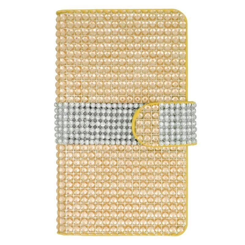 Insten Leather Diamond Bling Case Cover with Wallet Flap ...