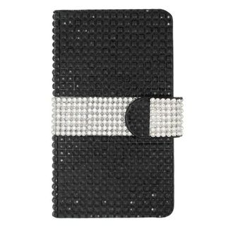 Insten Leather Diamond Bling Case Cover with Wallet Flap Pouch For LG Tribute