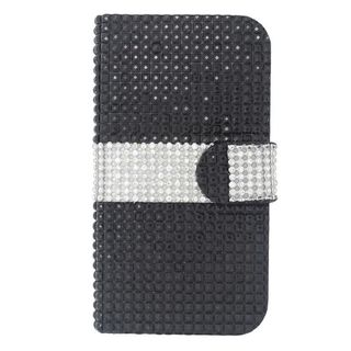 Insten Leather Rhinestone Bling Case Cover with Wallet Flap Pouch For LG Volt