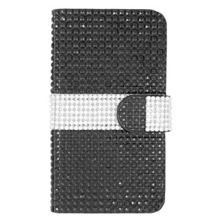 Insten Leather Diamond Bling Case Cover with Wallet Flap Pouch For LG Volt 2