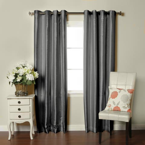 Brielle Fortune Faux Dupioni Silk-lined Insulated Room-darkening Curtain Panel