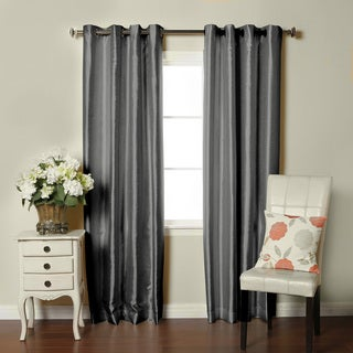 Brielle Fortune Faux Dupioni Silk-lined Insulated Room-darkening Curtain Panel Pairs
