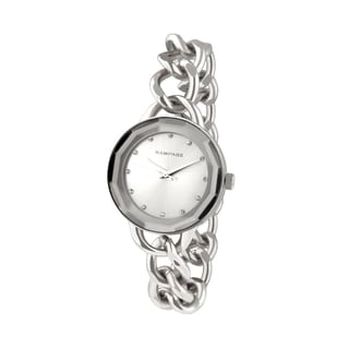 Rampage Ladies White Stainless Steel Silvertone Bracelet Japanese Quartz Watch