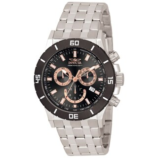 Invicta Men's 0389 Specialty Quartz Chronograph Black Dial Watch