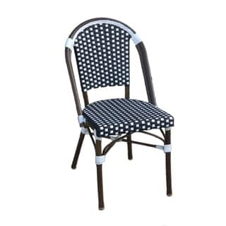 TIAB Black and White Finish Caf Bistro Chair