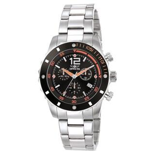 Invicta Men's 1245 Specialty Quartz 3 Hand Black Dial Watch