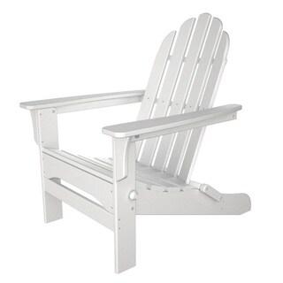 Tiba White Finish Wood Adirondack Folding Chair
