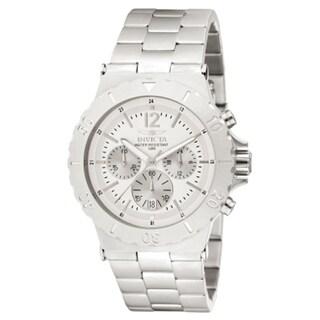 Invicta Men's 1265 Specialty Quartz 3 Hand Silver Dial Watch