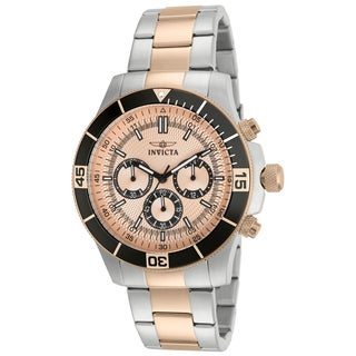 Invicta Men's 12842 Specialty Quartz Chronograph Rose Gold Dial Watch