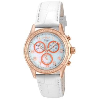Invicta Women's 12991 Angel Quartz Chronograph White Dial Watch