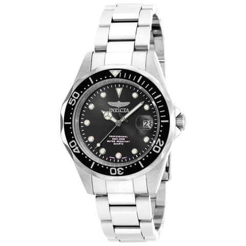 Invicta Men's 17046 Pro Diver Quartz 3 Hand Black Dial Watch
