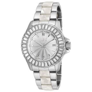 Invicta Women's 18874 Angel Quartz 3 Hand Silver Dial Watch|https://ak1.ostkcdn.com/images/products/11932343/P18821319.jpg?impolicy=medium