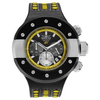 Invicta Men's 19177 S1 Rally Quartz Chronograph Black, Yellow, Gunmetal Dial Watch