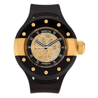 Invicta Men's 20103 S1 Rally Automatic 3 Hand Black, Gold Dial Watch