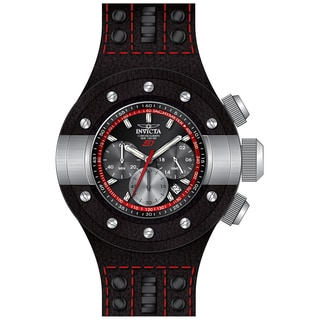 Invicta Men's 19175 S1 Rally Quartz Chronograph Black, Red, Gunmetal Dial Watch