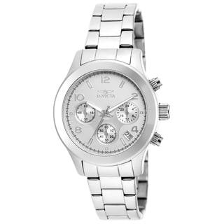 Invicta Women's 19216 Angel Quartz Chronograph Silver Dial Watch