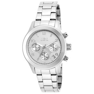Invicta Women's 19216 Angel Quartz Chronograph Silver Dial Watch