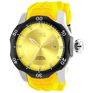 Invicta Men's 19301 Venom Automatic 3 Hand Yellow Dial Watch
