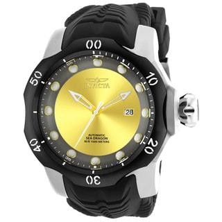 Invicta Men's 19310 Venom Automatic 3 Hand Yellow, Gunmetal Dial Watch