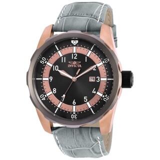 Invicta Men's 19565 Aviator Quartz 3 Hand Black Dial Watch
