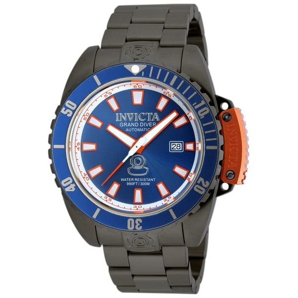 5dac1a9d5 Shop Invicta Men's 19870 Pro Diver Automatic 3 Hand Blue Dial Watch - Free  Shipping Today - Overstock - 11932413