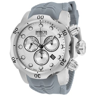 Invicta Men's 19914 Venom Quartz Chronograph White, Silver Dial Watch