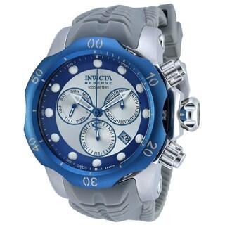 Invicta Men's 19924 Venom Quartz Chronograph Blue, Silver Dial Watch